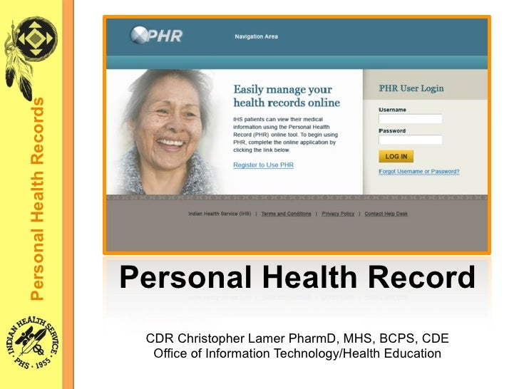 Personal Health Records                               Personal Health Record                            CDR Christopher La...