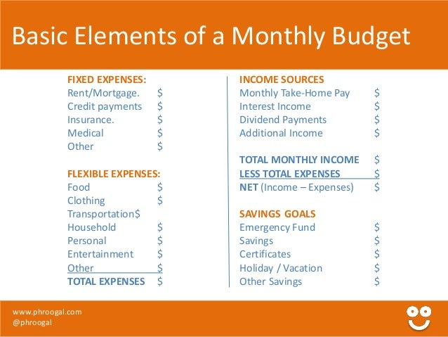 excel monthly expenses