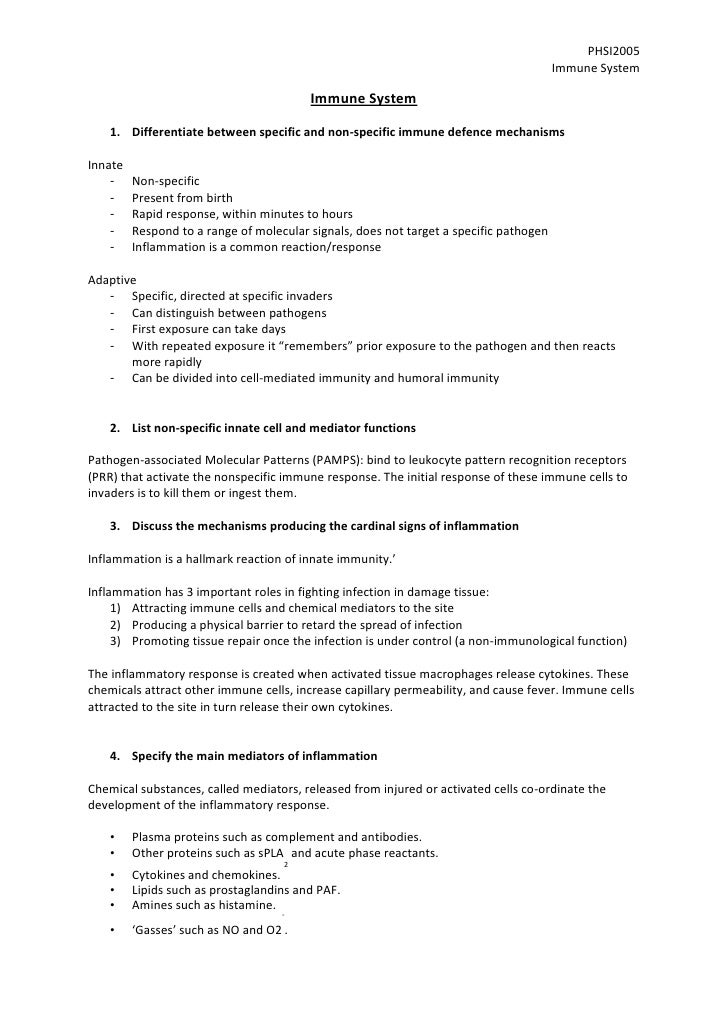 Phsi2005 notes (immune) 1