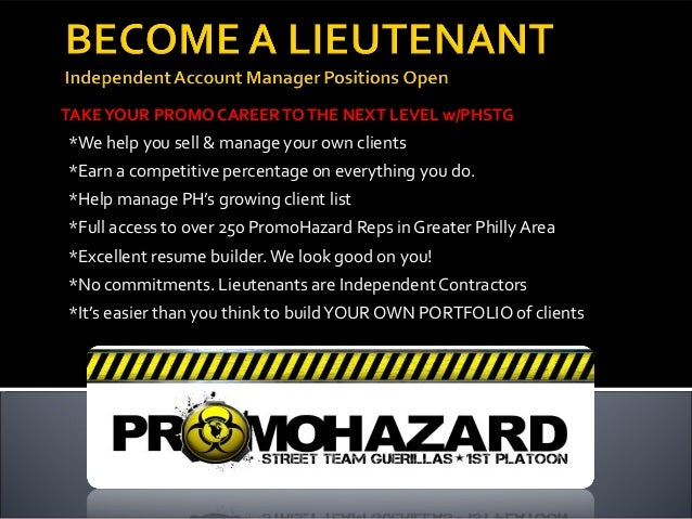 TAKE YOUR PROMO CAREER TO THE NEXT LEVEL w/PHSTG*We help you sell & manage your own clients*Earn a competitive percentage ...