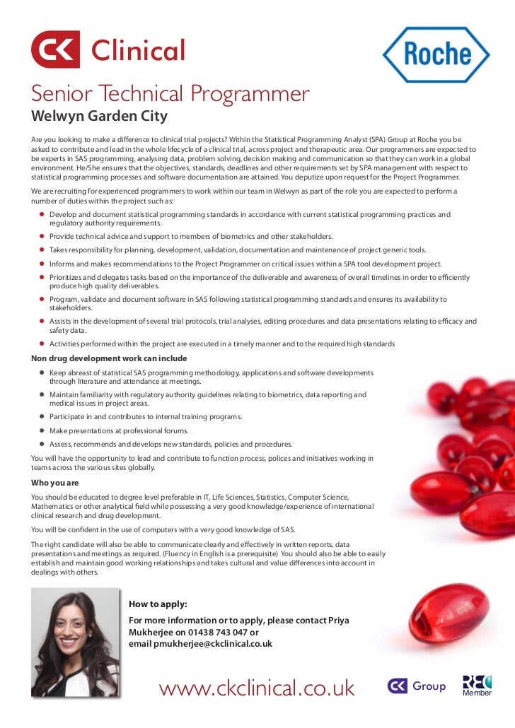 ClinicalSenior Technical ProgrammerWelwyn Garden CityAre you looking to make a difference to clinical trial projects? With...