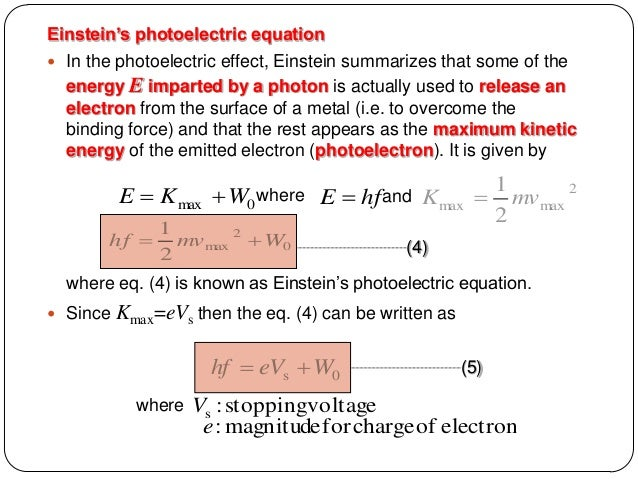 chemistry u2 einstein photoelectric effect essay Quantum theory research paper by einstein explained the photoelectric effect by extending planck's concept of you can also order a custom essay.