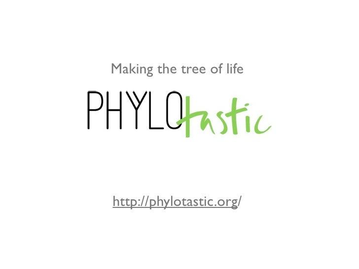Phylotastic @iEvoBio