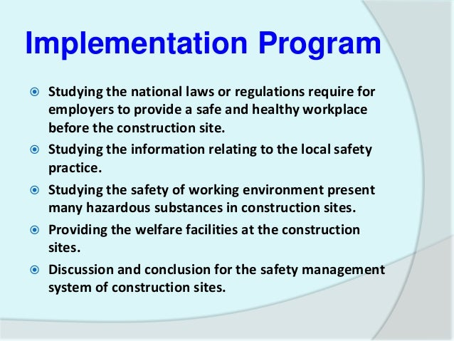 construction safety management thesis Master thesis summary ―application of geographic information systems in construction safety planning‖ a practical guide to field construction management.