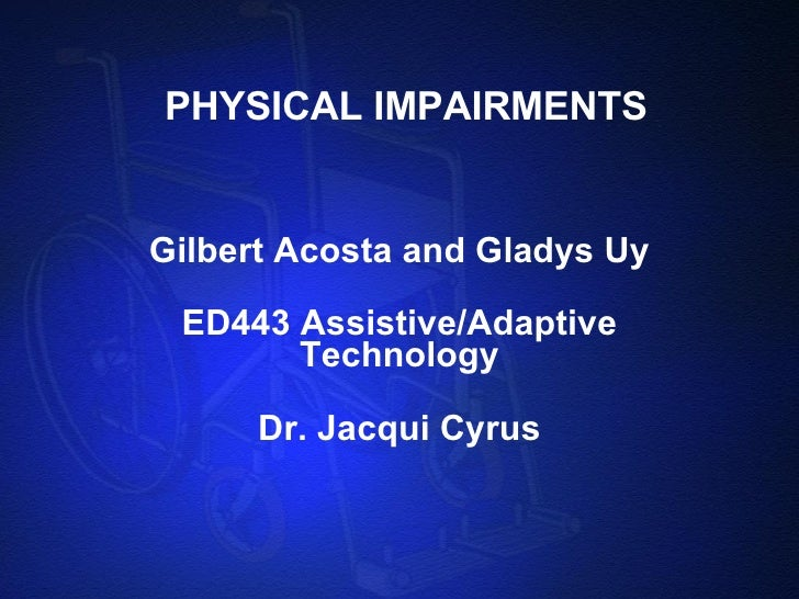 Physical Impairments 97 2003