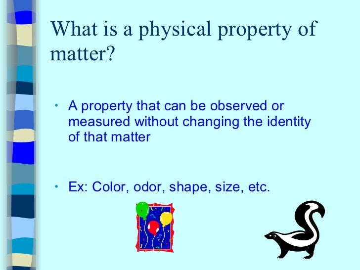 What Are Physical Properties Kids Definition