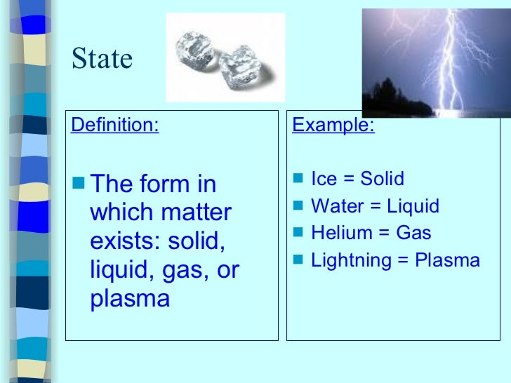 Physical Property Definition A