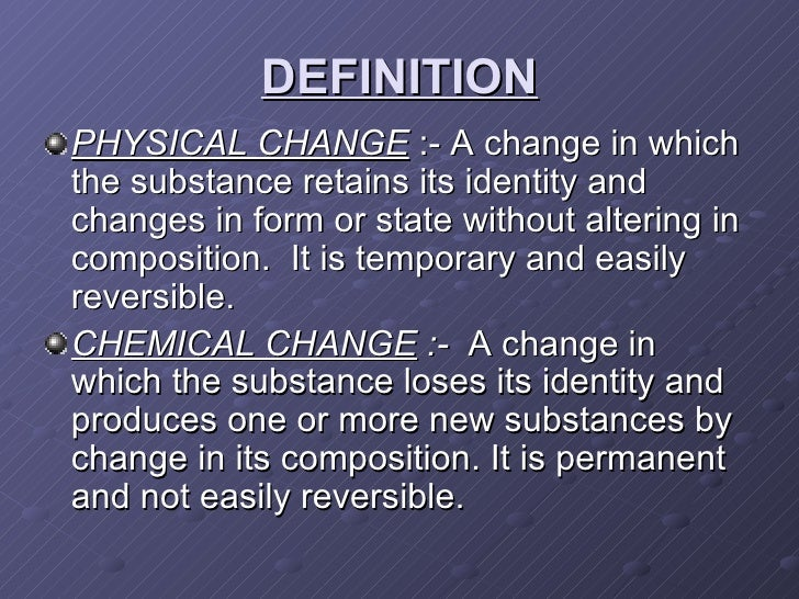 Physical Change Definition Kid Friendly