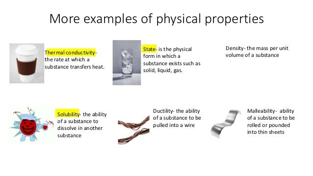 Mountain View » Physical Vs Chemical What Are Some Examples Of Physical Properties