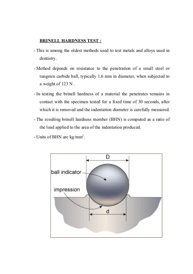 Physical And Mechanical Properties Of Dental Material