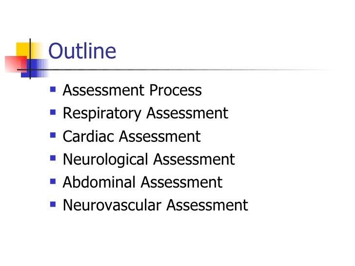 Assessment Outline Outline Assessment