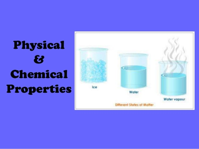 Physical Properties Of Water In Chemistry