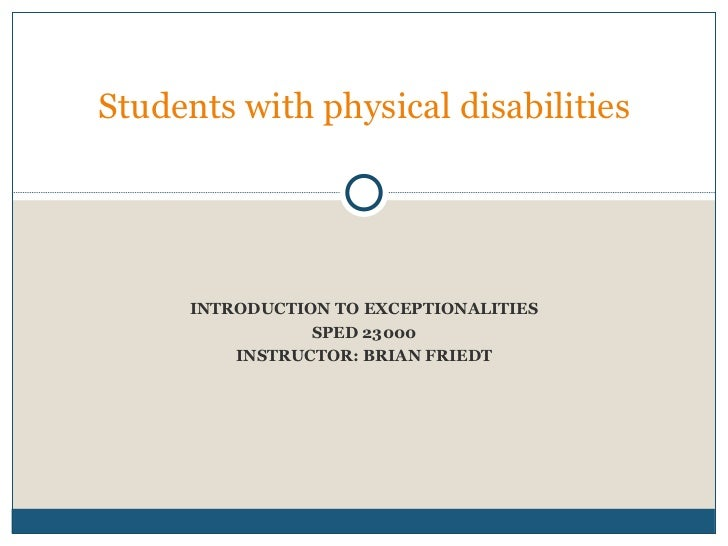 Physical disabilities sped 5 23000