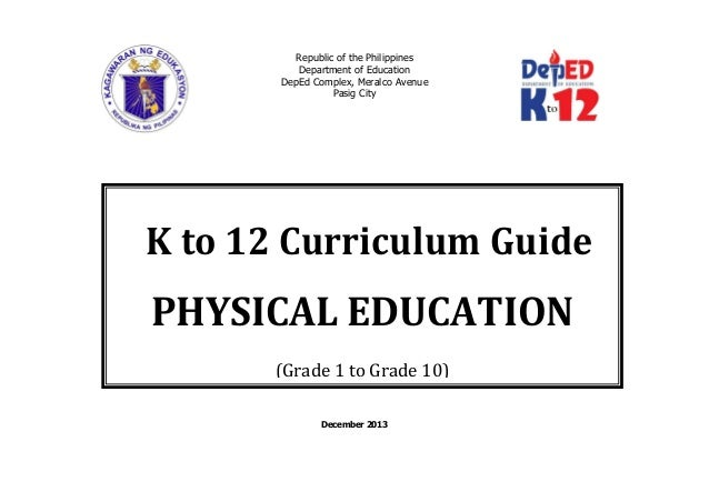 Physical Education K to 12 Curriculum Guide