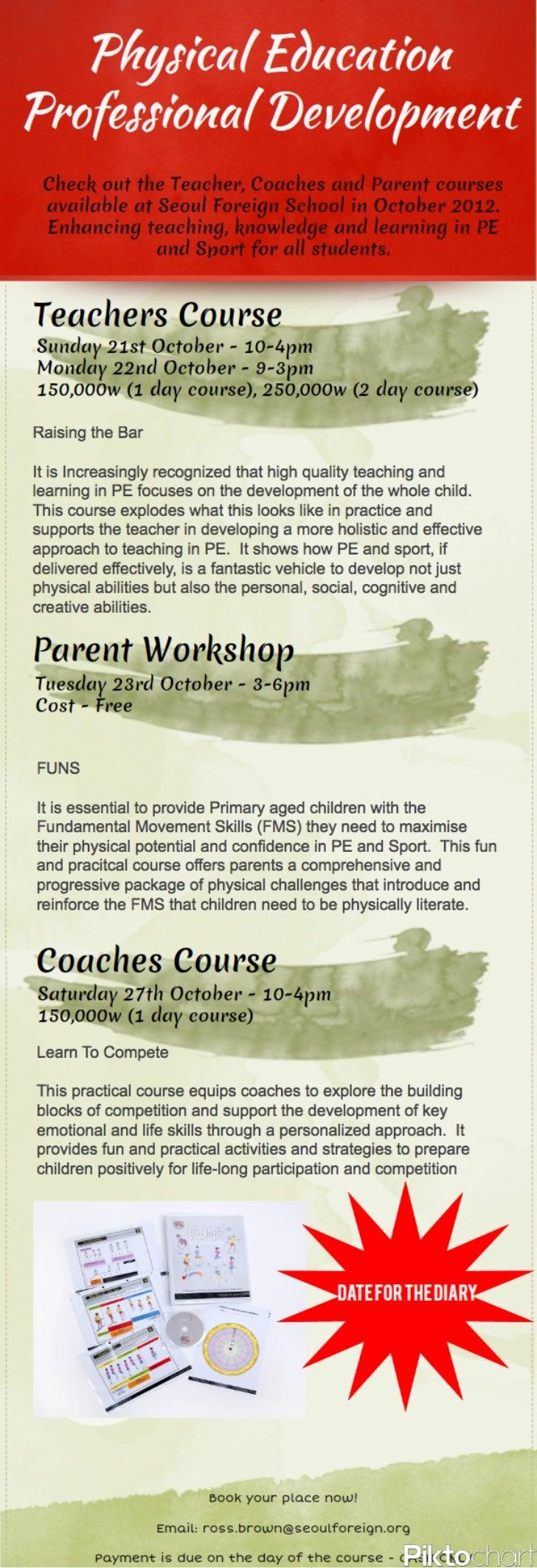Physical education professional development 2012[1]