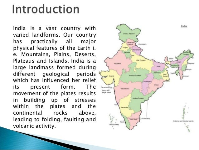 physical features of india essay