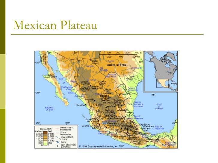 What are some physical features of south America ?