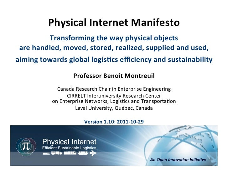 Physical internet manifesto 1.10 2011