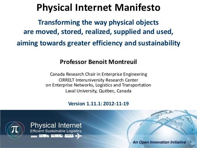 Physical internet manifesto eng version 1.11.1 2012-11-19