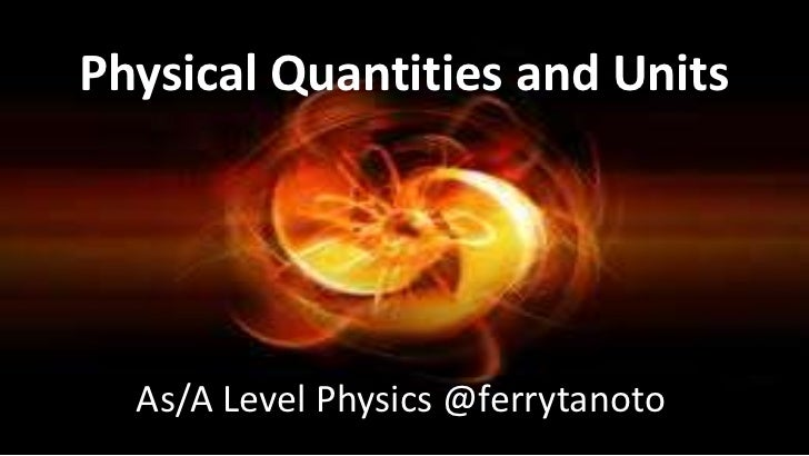 Physical quantities and units pps