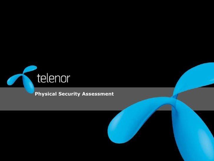 Physical Security Assessment<br />