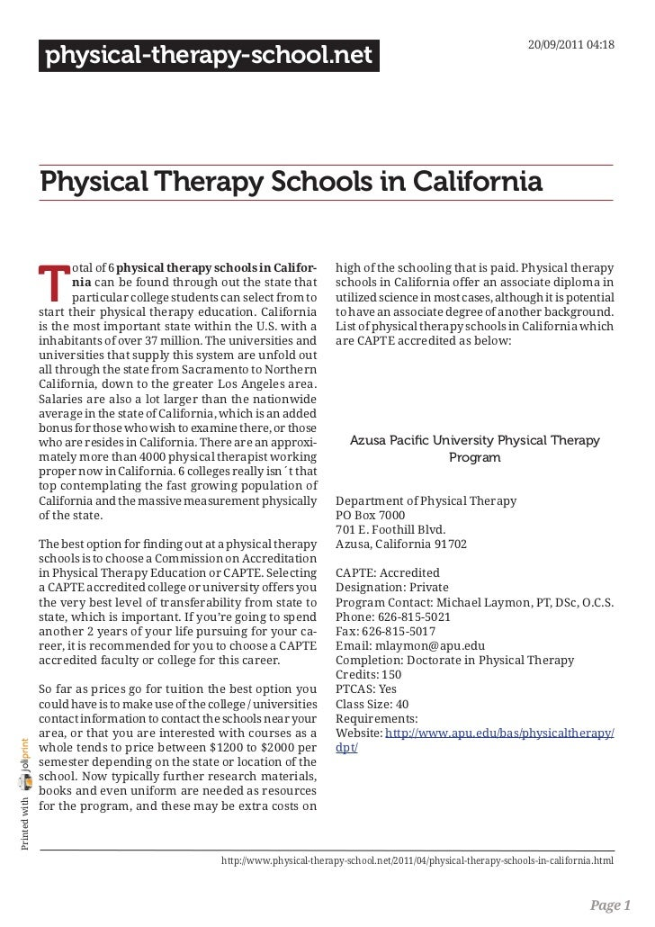 20/09/2011 04:18                 physical-therapy-school.net                Physical Therapy Schools in California        ...