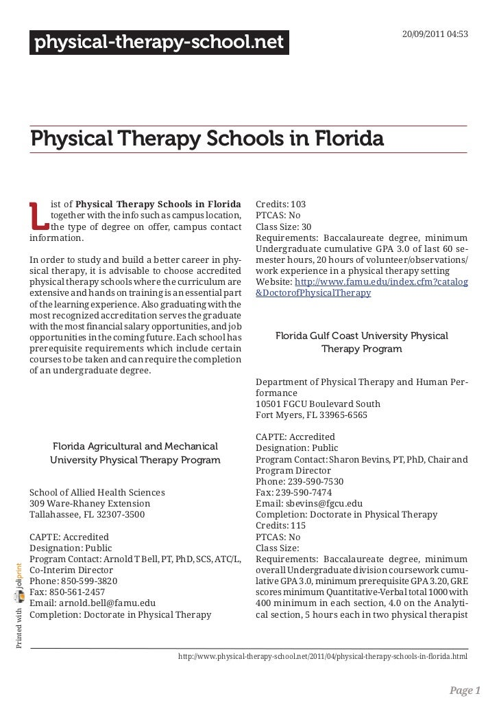 20/09/2011 04:53                 physical-therapy-school.net                Physical Therapy Schools in Florida           ...