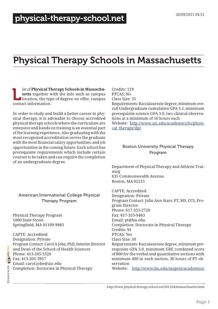 20/09/2011 04:51                 physical-therapy-school.net                Physical Therapy Schools in Massachusetts     ...
