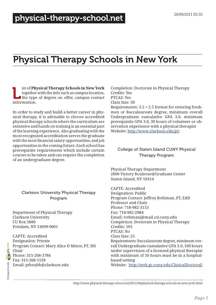 20/09/2011 05:35                 physical-therapy-school.net                Physical Therapy Schools in New York          ...