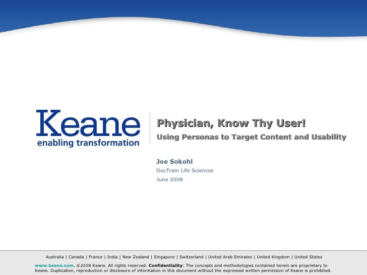 [Case Study] Physician, Know Thy User: Using Personas to Target Content and Usability