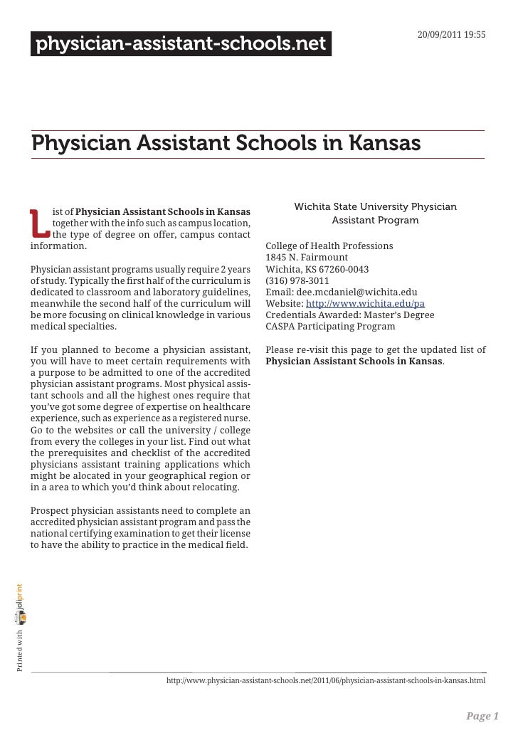 20/09/2011 19:55                 physician-assistant-schools.net                Physician Assistant Schools in Kansas     ...