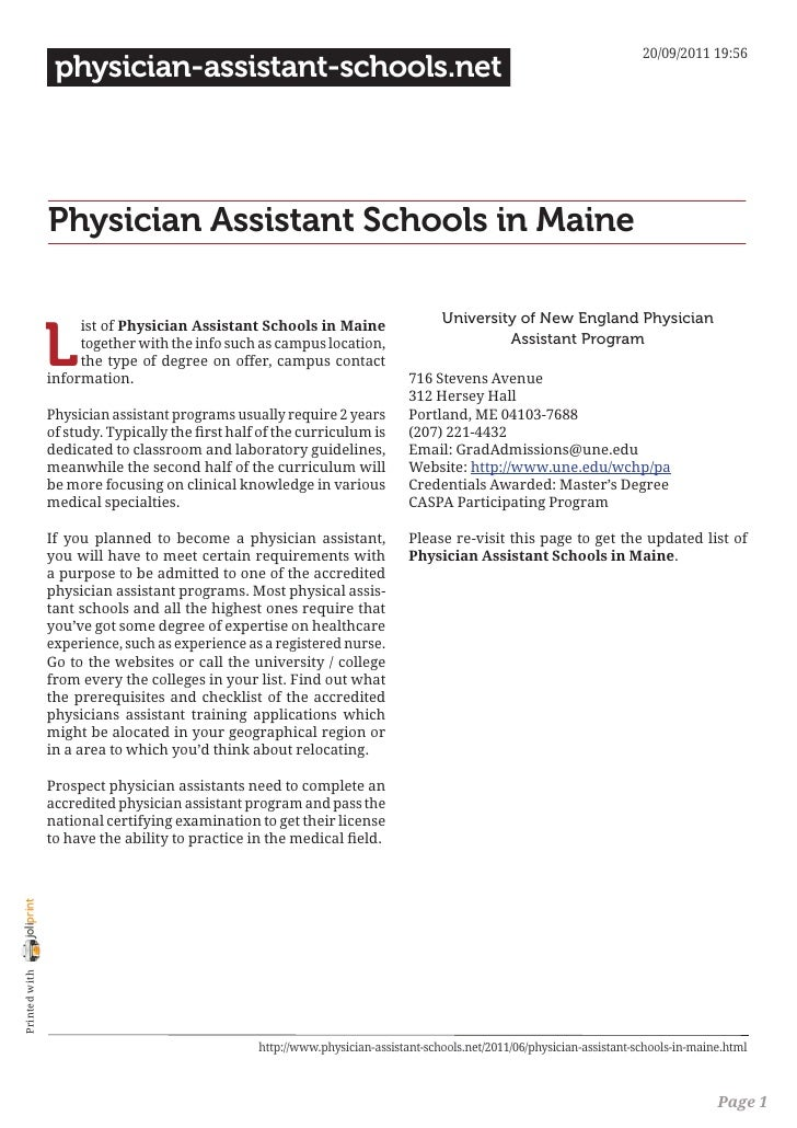 20/09/2011 19:56                 physician-assistant-schools.net                Physician Assistant Schools in Maine      ...