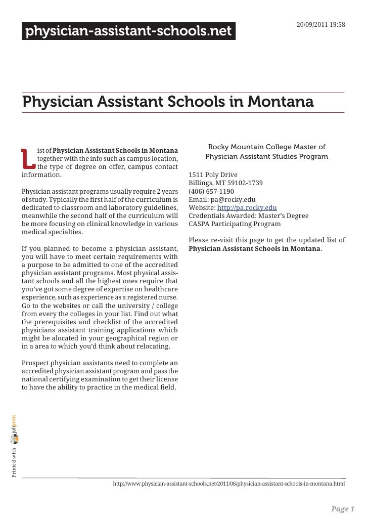 20/09/2011 19:58                 physician-assistant-schools.net                Physician Assistant Schools in Montana    ...