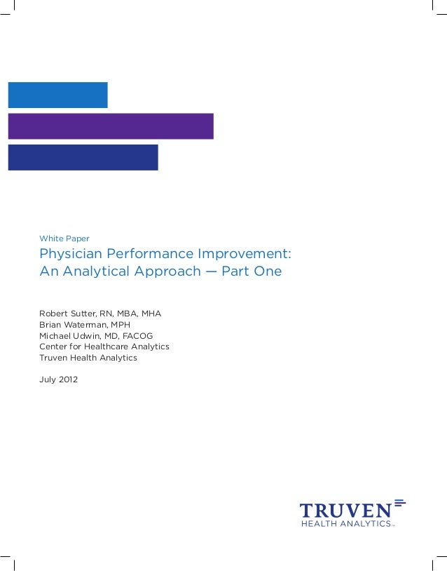 Physician performance improvement part one
