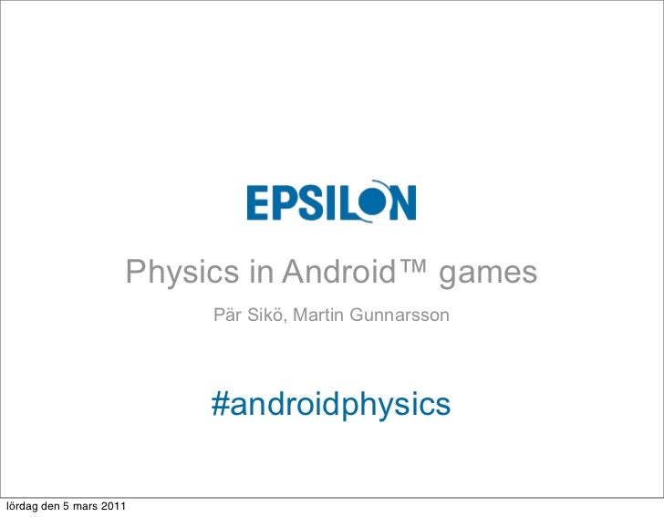Physics in Android games