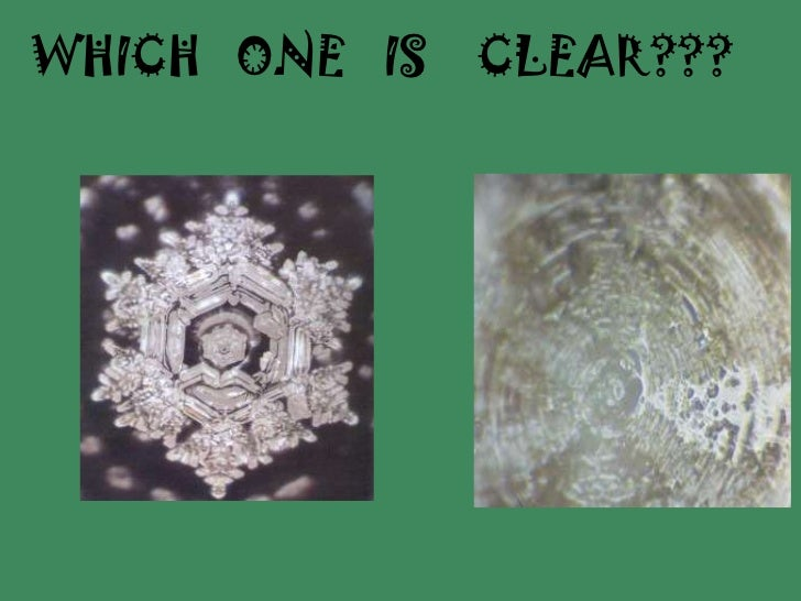 WHICH   ONE   IS    CLEAR???<br />