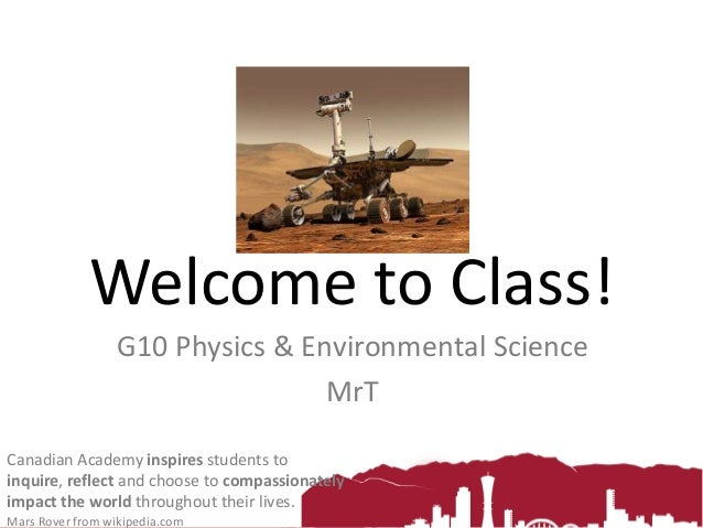 Welcome to G10 Science!