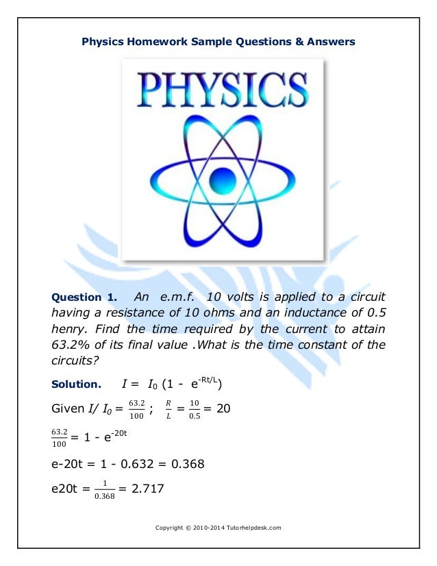Homework help physics