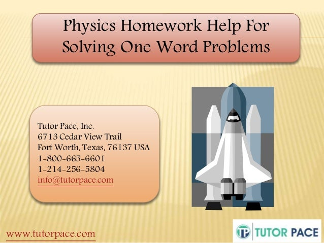 Homework helpers physics