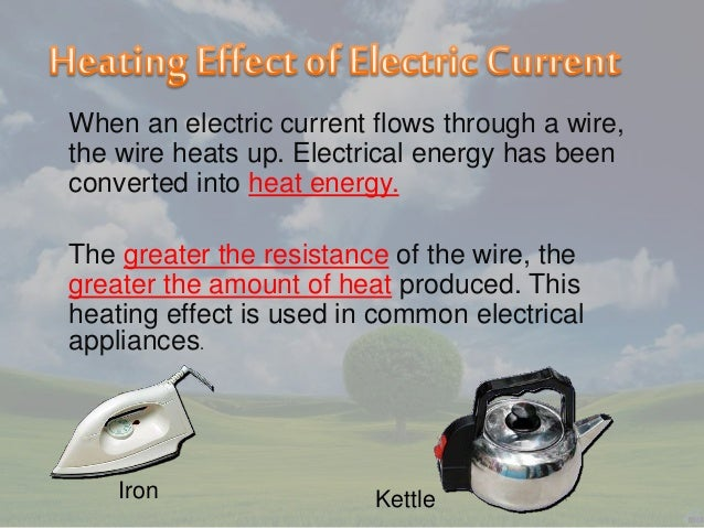 How does the heating effect of current affect the resistance of a wire?
