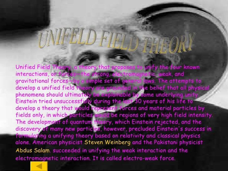 What would be a creative way to present a Unified Field Theory for a project?