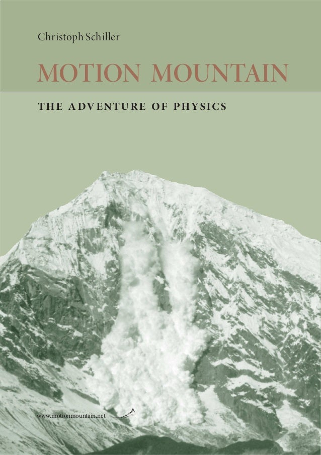 Christoph Schiller MOTION MOUNTAIN the adventure of physics www.motionmountain.net
