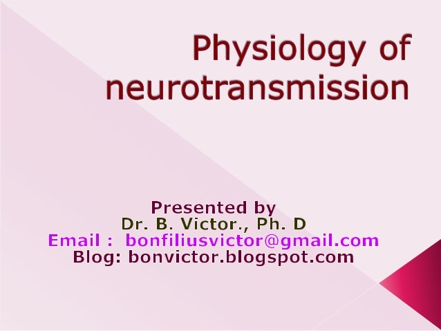 Physiology of neurotransmission