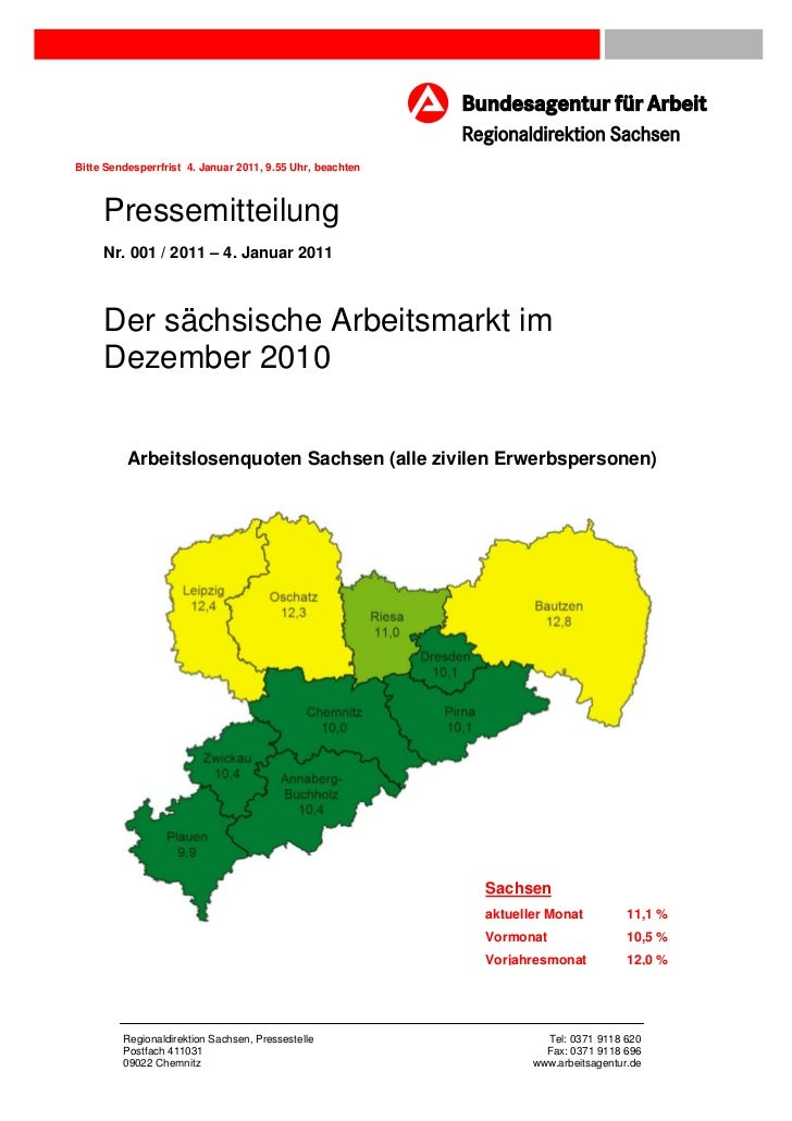 Bitte Sendesperrfrist 4. Januar 2011, 9.55 Uhr, beachten     Pressemitteilung     Nr. 001 / 2011 – 4. Januar 2011     Der ...
