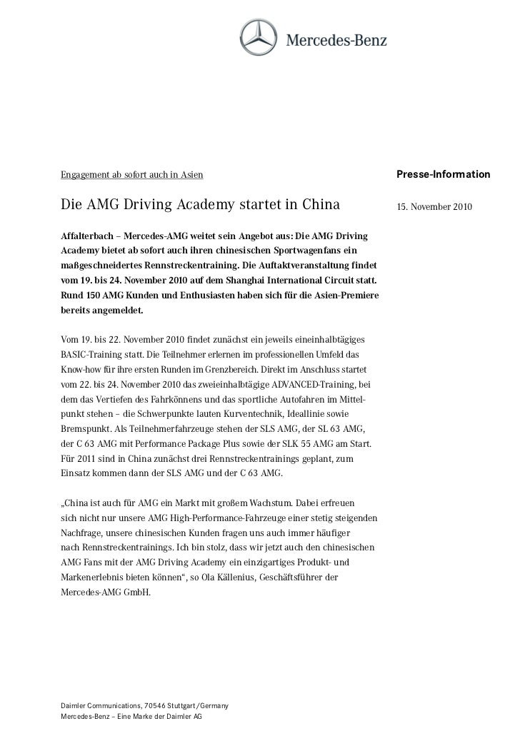 Engagement ab sofort auch in Asien                                                Presse-InformationDie AMG Driving Academ...