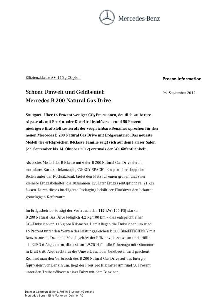 Effizienzklasse A+, 115 g CO2/km                                                Presse-InformationSchont Umwelt und Geldbe...