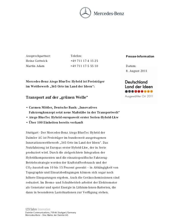Ansprechpartner:                          Telefon:                 Presse-InformationHeinz Gottwick                       ...