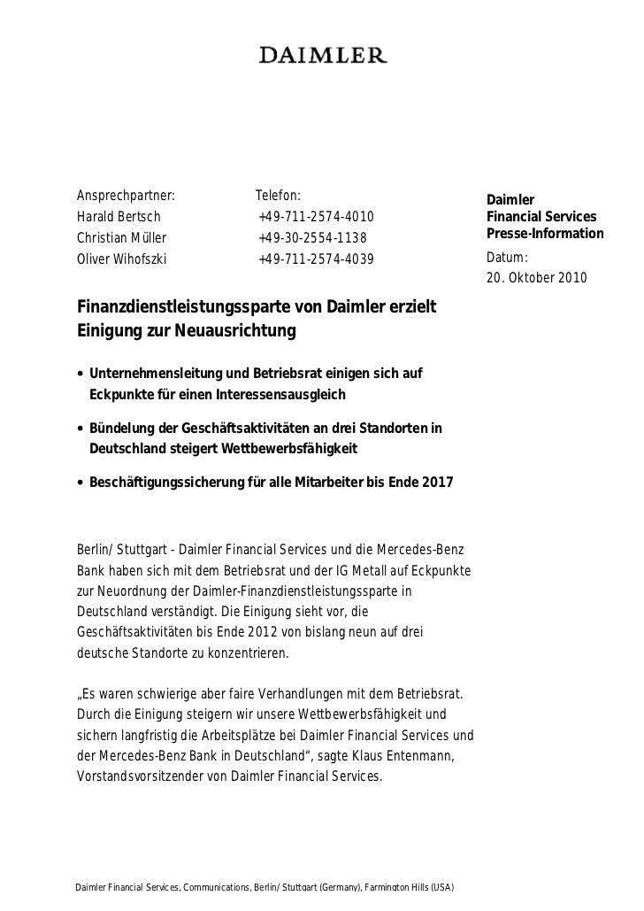 Ansprechpartner:                            Telefon:                                             DaimlerHarald Bertsch    ...