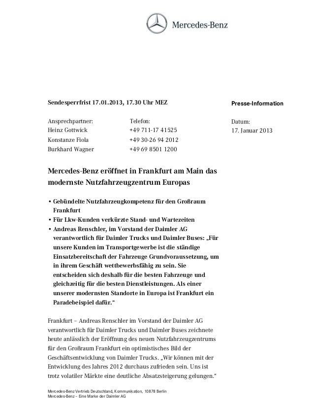 Sendesperrfrist 17.01.2013, 17.30 Uhr MEZ                           Presse-InformationAnsprechpartner:                    ...
