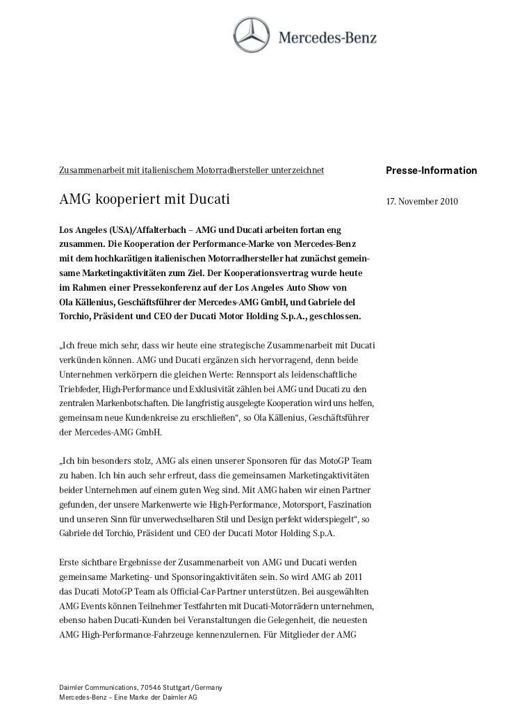 Zusammenarbeit mit italienischem Motorradhersteller unterzeichnet                      Presse-InformationAMG kooperiert mi...